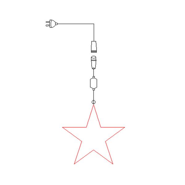 Bilde av Stjerne 2D 27x27 cm rød