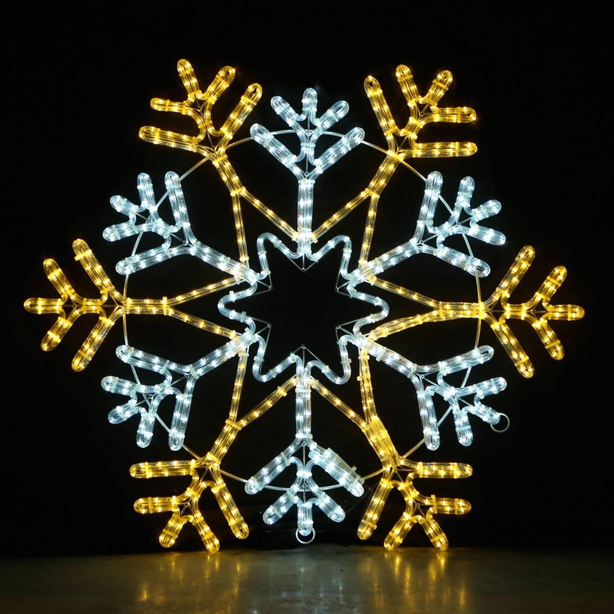 Snøfnugg 90x90cm. 7 ulike lysprogram. Varmhvit og kaldhvit